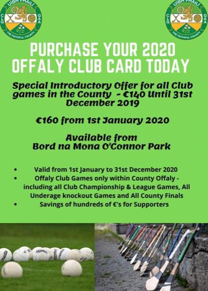 Offaly GAA Season Tickets